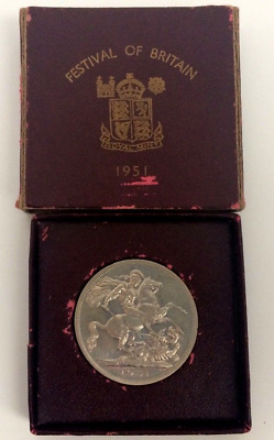 Festival of Britain Crown Piece 1951 silver coin