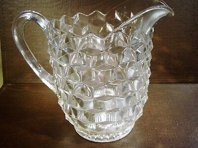 """FOSTORIA AMERICAN 8"""" 48 Ounce FOOTED PITCHER Excellent Used Condition"""