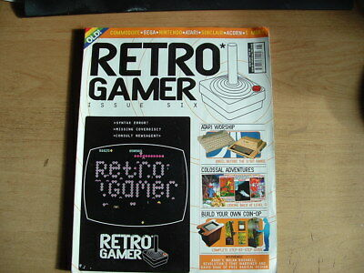 Retro Gamer Magazine No 6 Sega Atari Sinclaair Acorn Commodore  Retro Computing