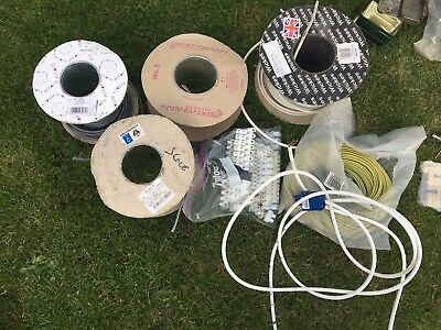 Co-Axial, twin & earth 4 part-used reels of cable and other related