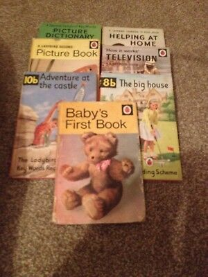 7 Collectible Ladybird Books, HB, C1970's - Great for a newborn present