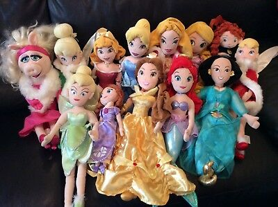 Disney soft plush dolls bundle joblot girl xmas present vgc 13 dolls