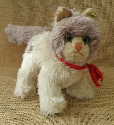 Vintage 1960s ~ Steiff COSY KITTY Cat ~ Good Condition ~ With Steiff Button