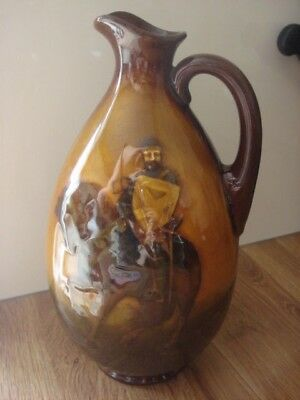 Rare Doulton Kingsware Whisky Flask - The Crusader, Greenlees Brothers