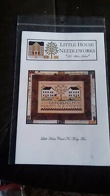 Little House Needleworks cross stitch chart Two White Houses