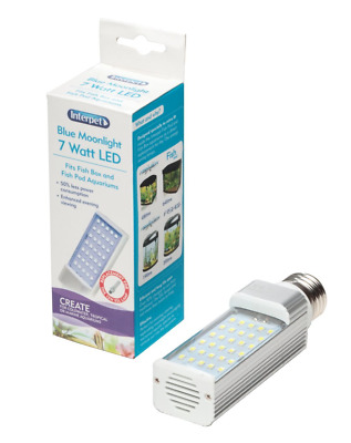 Interpet LED Energy Saving Lamp to Fit All Fish Pod and Fish Box Aquariums, 7 W