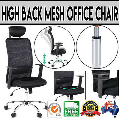 Contemporary High Back Black Mesh Office Chair Lumbar Support Height Adjustable