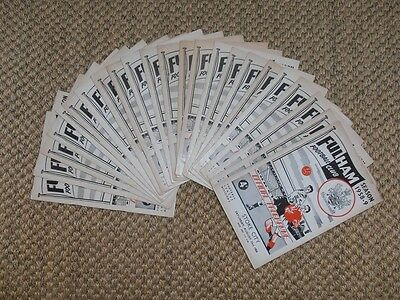 1958-59 FULHAM FC HOME FOOTBALL PROGRAMMES - Your choice - FREE Postage