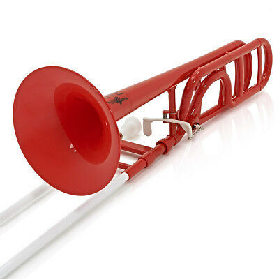 playLITE Hybrid Trombone by Gear4music, Red - Used only for an hour at most.