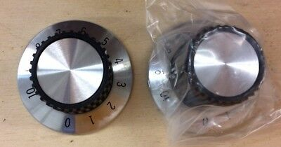 Pair of Lightweight Knobs For Electronic Equipment Audio Etc