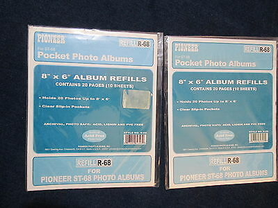 Lot of 2 Pioneer Pocket Photo Albums Scrapbook Refill Pages R-68 ST-68 Acid free