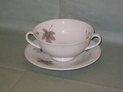 Royal Doulton Tumbling Leaves Cream Soup Cup & Saucer