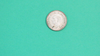 1939 UK Great Britain 1 Shilling Silver Coin King George VI