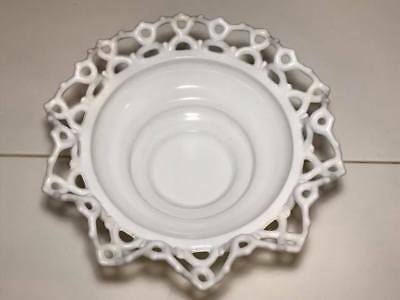 Atterbury milk glass lace bowl