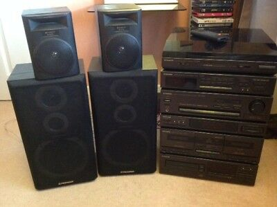 Pioneer hi-fi system PL-Z95/55 with speakers and surround sound speakers