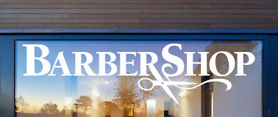 Barber Shop Sign Vinyl Window Stickers Window Wall Decals SHOP FRONT BARBER SHOP