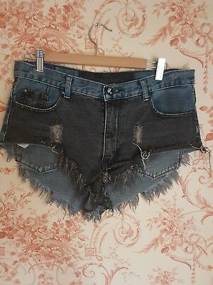 One teaspoon denim shorts 2 tone roller