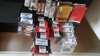 Genuine Champion Spark Plugs + Unipart + Denzo Job Lot Of 133 Pieces