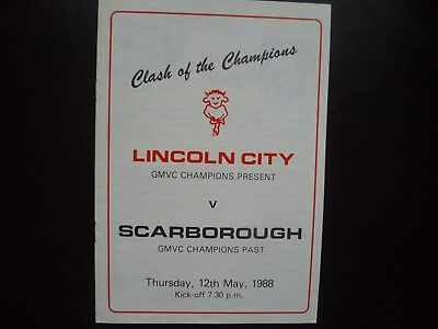 Lincoln City v Scarborough May 1988 Friendly
