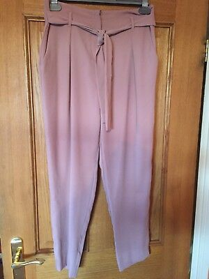 River Island - Dusty Salmon Pink Trousers - Used - Size 10