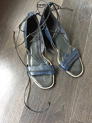 "Whistles tie up leg gladiator party shoes / 2"" heels, size UK5 / 6"