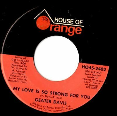 soul northern soul popcorn Geater Davis My love is so strong for you