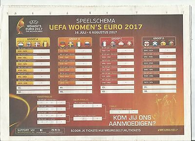 WOMENS EURO 2017  incl ENGLAND SCOTLAND RUSSIA HOLLAND DENMARK - DEVENTER ISSUE
