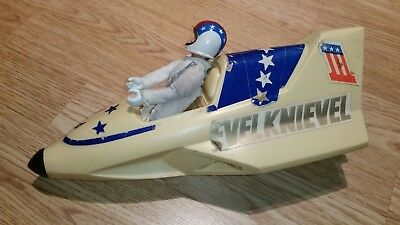 Evel Knievel Canyon Sky Cycle & Figure, 1974 Vintage By Ideal Toys Rare