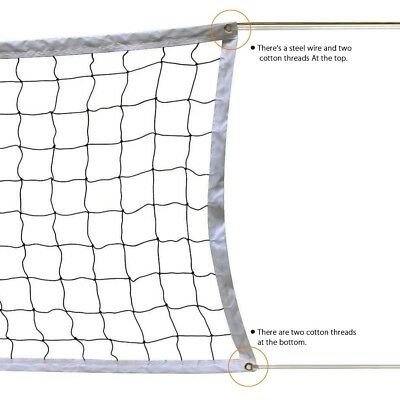 32L' x 3W' Volleyball Net Professional Regulation Heavy Duty Quality Sport Set