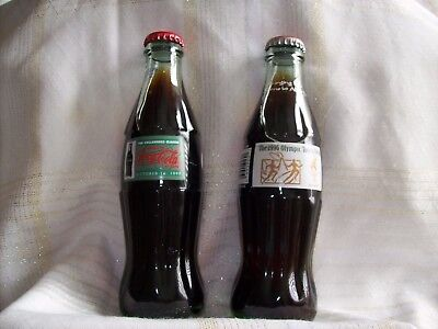 1996 Olympic Torch Relay & 1999 Collegtors Classic Coca Cola Bottles