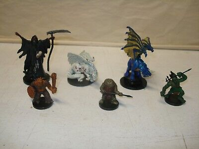 Lot of 6 Dungeon and Dragons Figures From the Pathfinder Series?