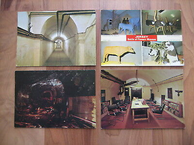 Four Jersey postcards, incl 3 from German military underground hospital