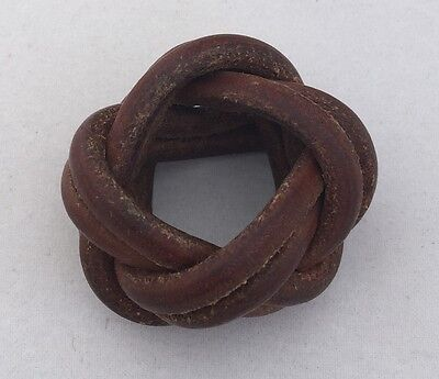 Vintage Boy Scouts of Canada Leather Turk's Head Woggle