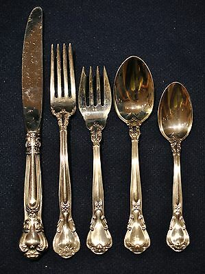 Gorham Chantilly Sterling Flatware Set Place Size For 8 With 5 And Servers