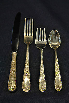 Kirk Mayflower Sterling Set For 8 By 4 Not Monogrammed Hand Polished