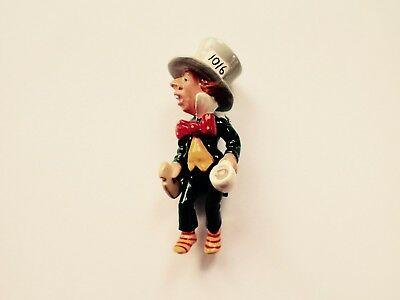 "HANTEL Miniatures ""MAD HATTER"" Hand Painted Pewter Excellent Condition"