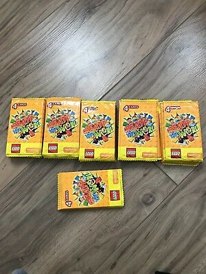 Lego Create the World Collectors Cards  55 Packs ( over 200 cards) brand new.