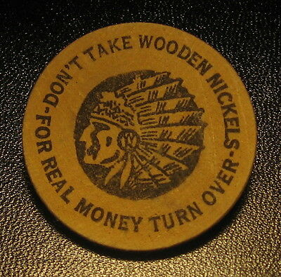 1966 Saskatoon Canada Wooden Nickel 5th Annual Coin & Stamp Show