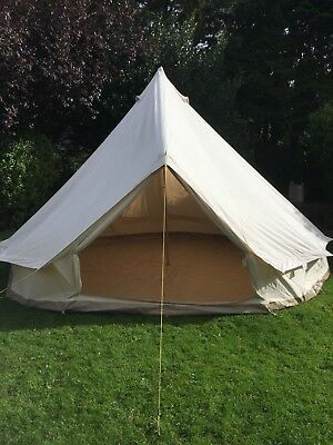 5m beige canvas bell tent used