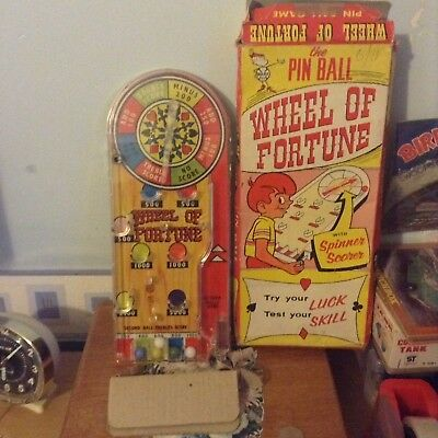 Marx Bagatelle Wheel Of Fortune Game 1960s.
