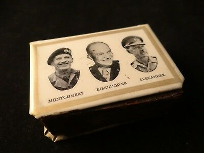 Matchbox Cover With Roosevelt, Churchill, Stalin, Montgomery, Eisenhower And Ale