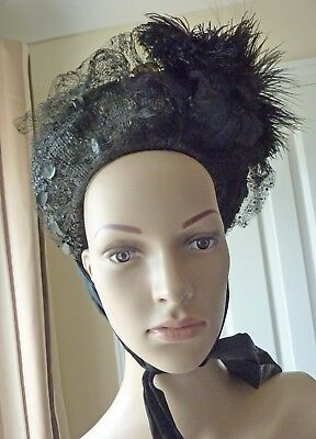 Gorgeous Victorian/Edwardian Hat with Feathers/Flowers etc.