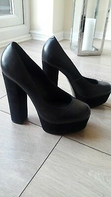 River island - real leather high heels size 6(39)