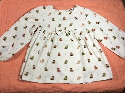 Gymboree Toddler Girl's 4T Long Sleeved White Corduroy Top Colorful Kittens