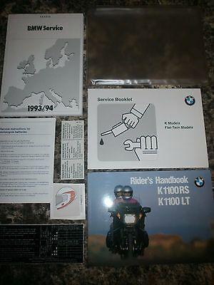 BMW K1100RS K1100LT MOTORCYCLE HANDBOOK MANUAL PACK inc SERVICE BOOK 1992 - 96