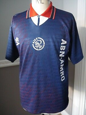 Vintage Ajax Amsterdam Football Away Kit Jersey Shirt Umbro 1994/95 L