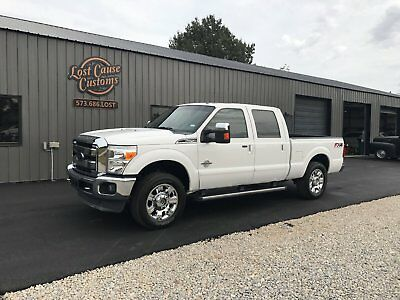 2012 Ford F-250 LARIAT 2012 ford f250 lariat fx4 crew cab wrecked salvage rebuild able 6.7 diesel 4x4