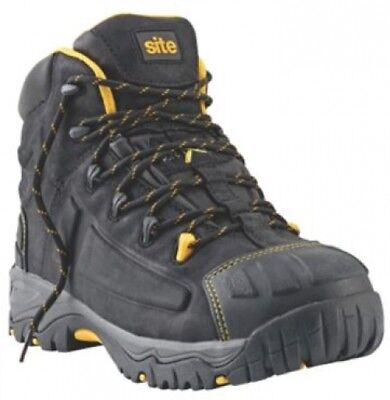 e4f572dd2a69 SITE FORTRESS WATERPROOF Safety Boots Black Size 10 - EUR 66