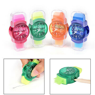 Watches Sliced Pencils Sharpeners With Erasers Brush for Offices School Supplie