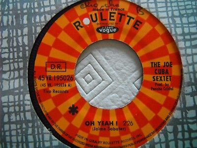 Rare SP (Juke Box) THE JOE CUBA SEXTET Ho Yeah !  Latin Label Roulette Cha Cha